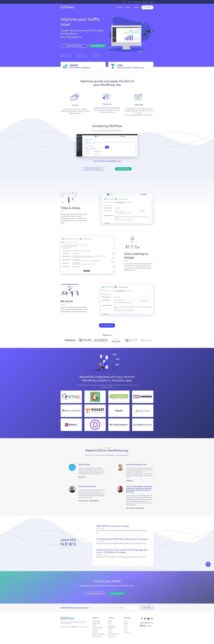 Site SEOPress en 2019 - 2021