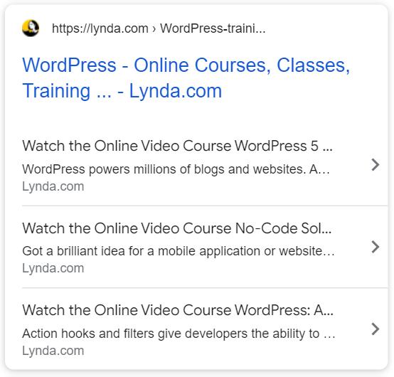 https://www.lynda.com/WordPress-training-tutorials/330-0.html utilise le schéma Course (Cours).