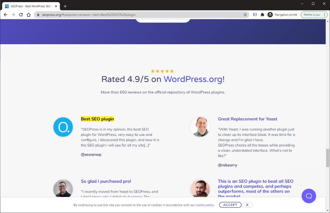Exemple de lien utilisant un lien vers un extrait de texte https://www.seopress.org/#seopress-reviews:~:text=Best%20SEO%20plugin