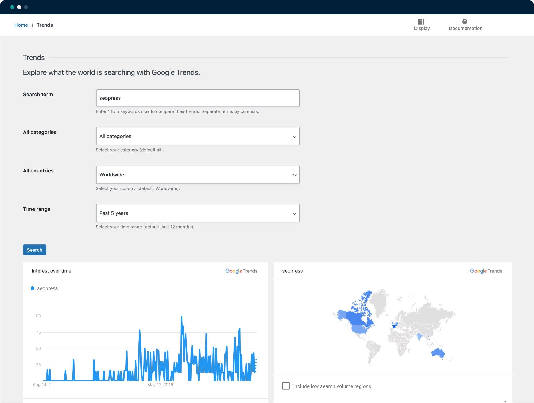 Google Trends - SEOPress Insights