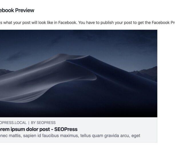 SEOPress Facebook Preview