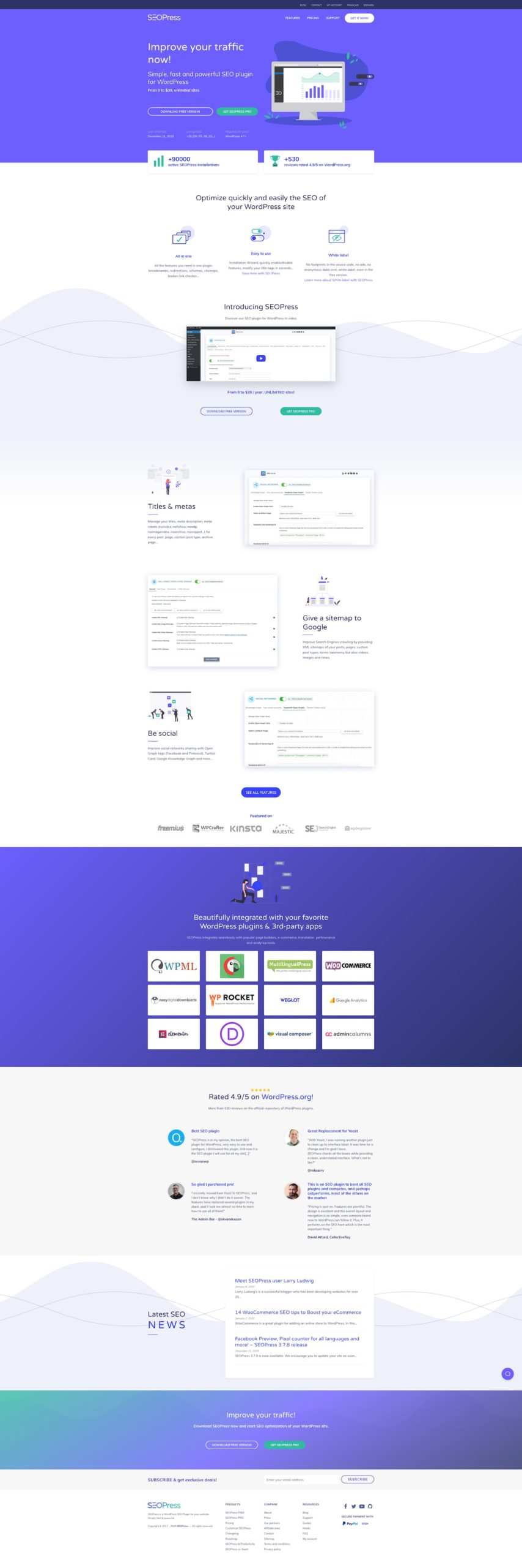 SEOPress website (v2)