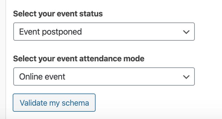 New properties for Event schema