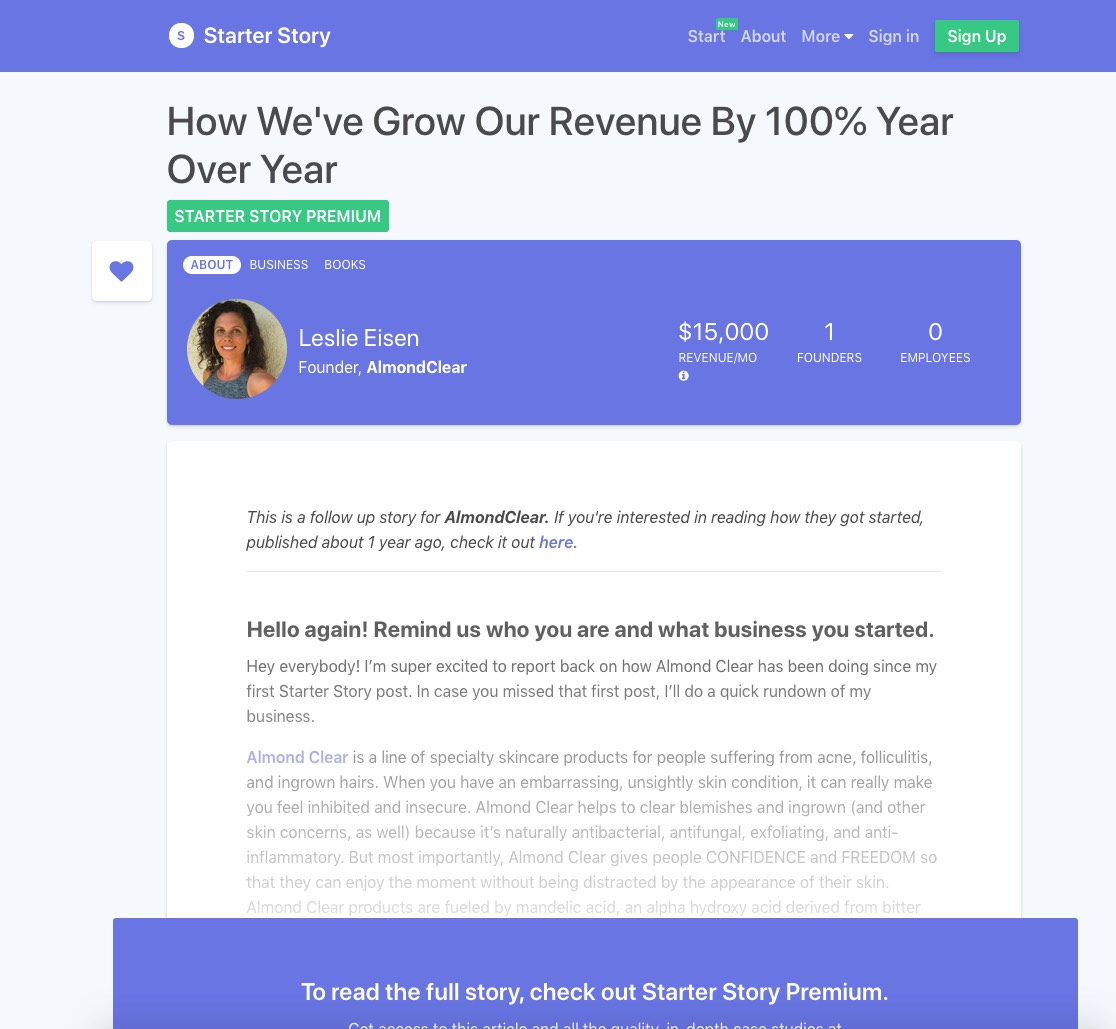 Starter Story Premium Interview