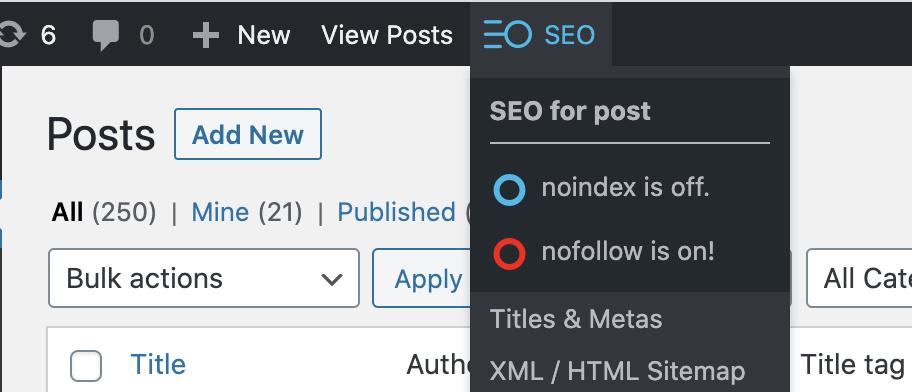 Global SEO custom post types settings - SEOPress