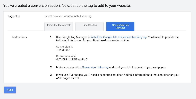 Google Ads - Conversion ID