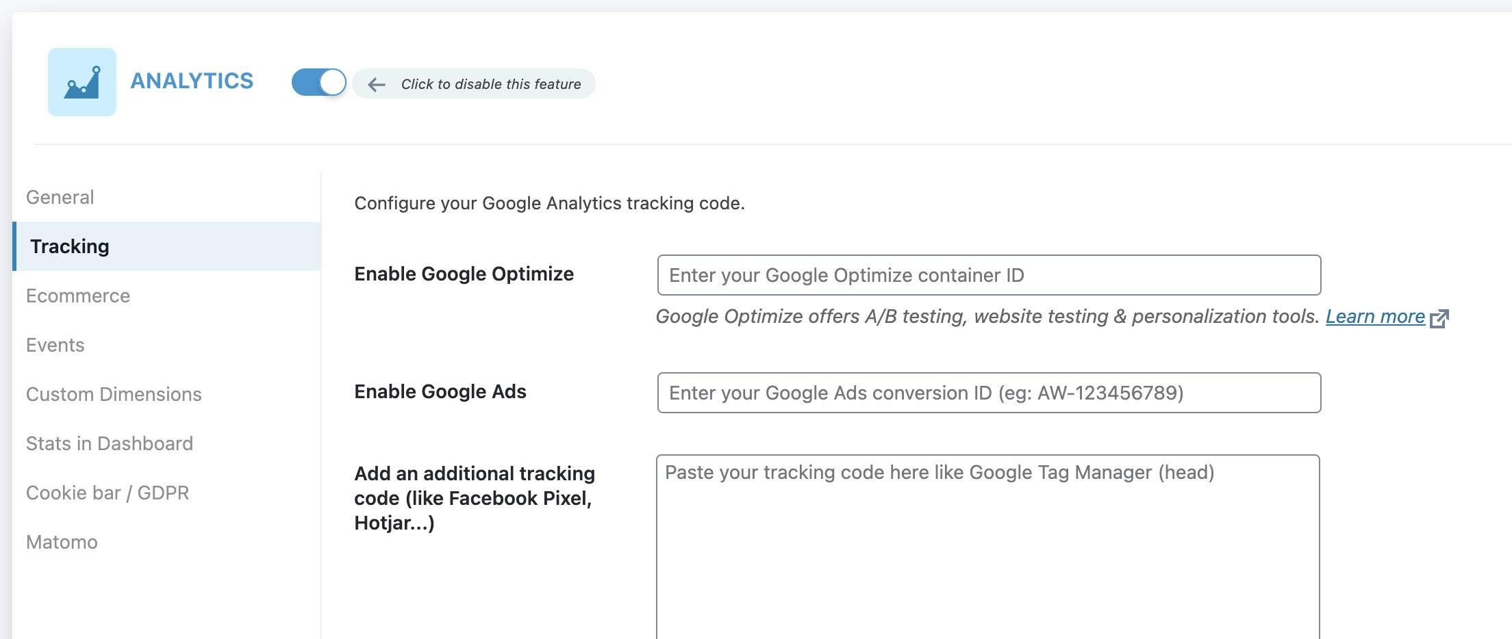 Google Ads - Conversion ID in SEOPress
