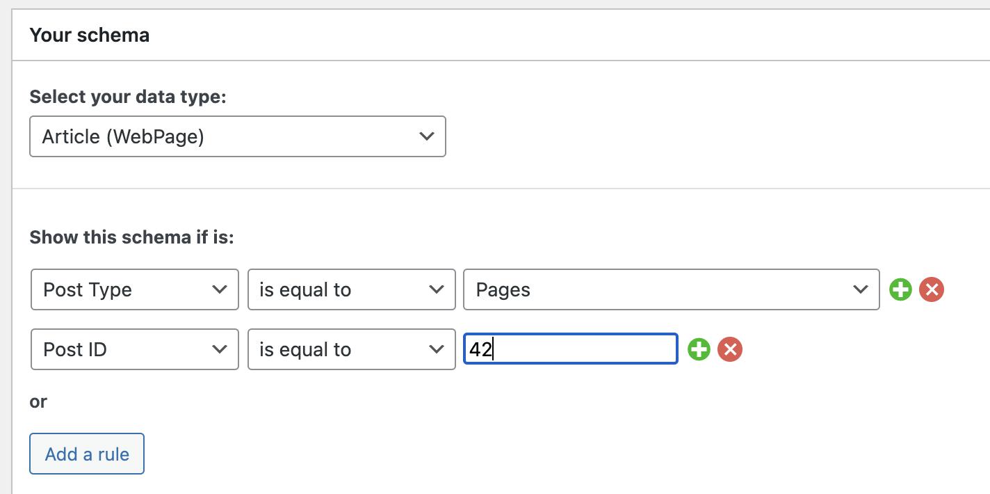 Post ID condition, automatic schemas - SEOPress